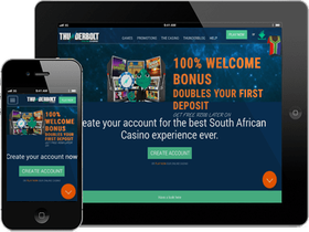 Thunderbolt Casino is available on Desktop or Mobile Phone